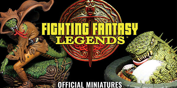 Fighting Fantasy Legends: miniaturas oficiais a caminho!