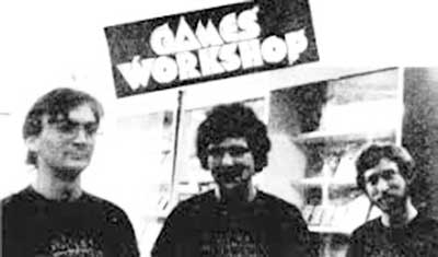 John Peake, Ian Livingstone e Steve Jackson - Games Workshop